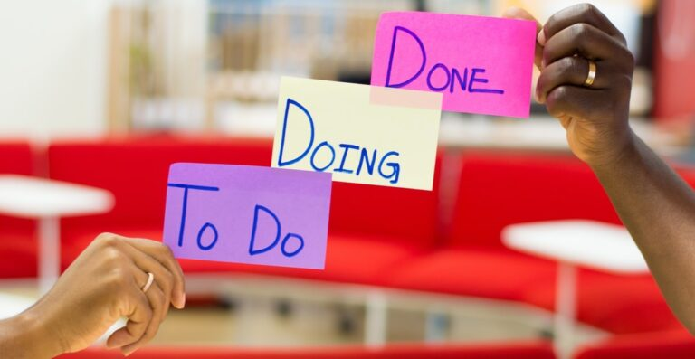 scrum bord: to do, doing, done